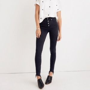 """9"""" skinny button front Jeans"""